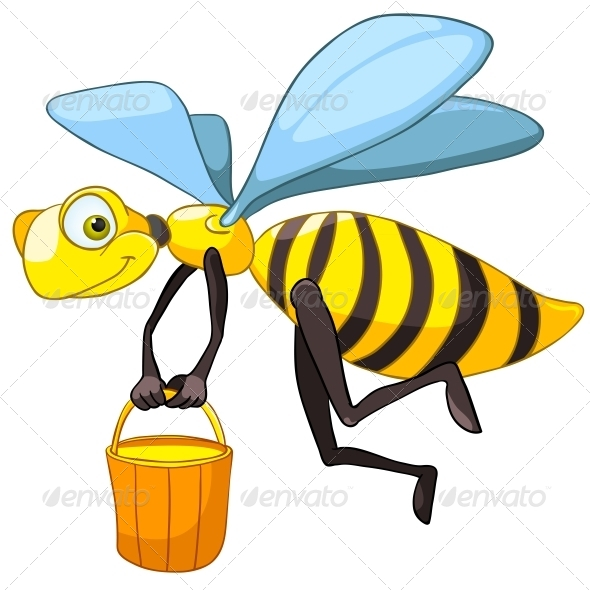 GraphicRiver Cartoon Character Bee 4970830
