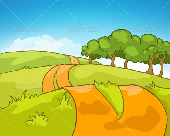 Cartoon Nature Landscape Graphicriver