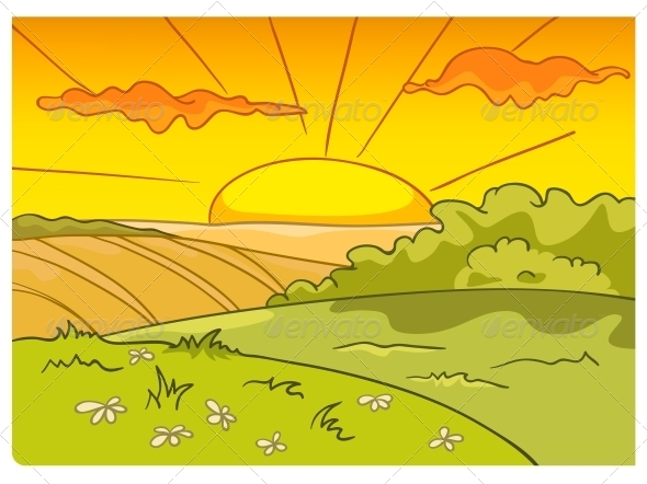 GraphicRiver Cartoon Nature Landscape 4970859