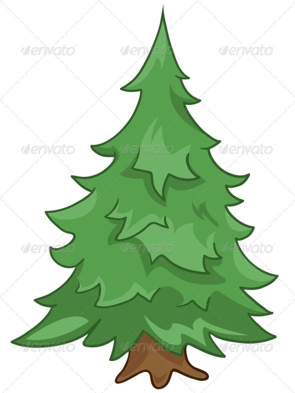 GraphicRiver Cartoon Nature Tree Fir 4970862