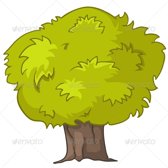 GraphicRiver Cartoon Tree 4970863