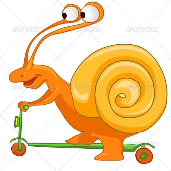 GraphicRiver Cartoon Character Snail 4970951