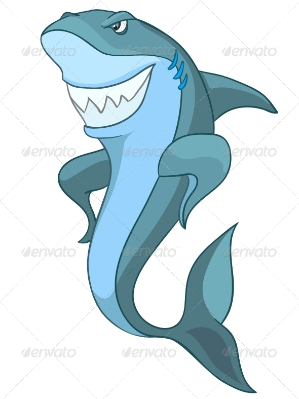 GraphicRiver Cartoon Character Shark 4970970