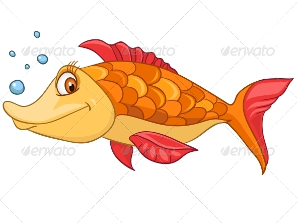 GraphicRiver Cartoon Character Fish 4970981