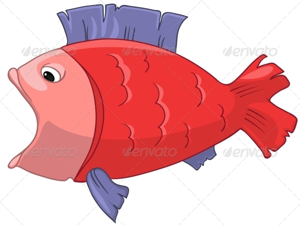 GraphicRiver Cartoon Character Fish 4971158