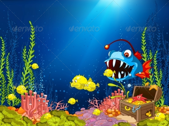 GraphicRiver Ocean Underwater Cartoon 4971259
