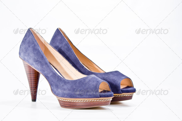 Blue-shoes - Stock Photo - Images