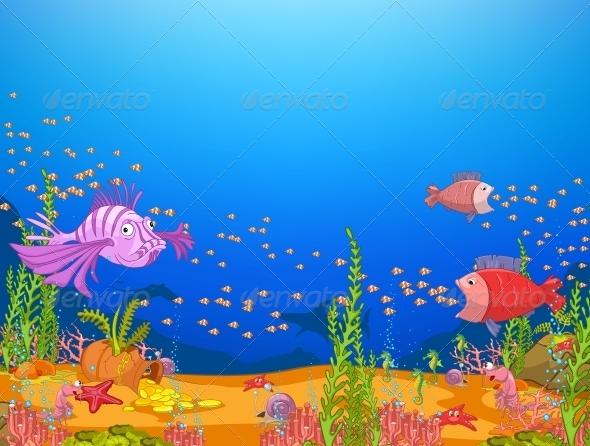 Underwater Cartoon Animals
