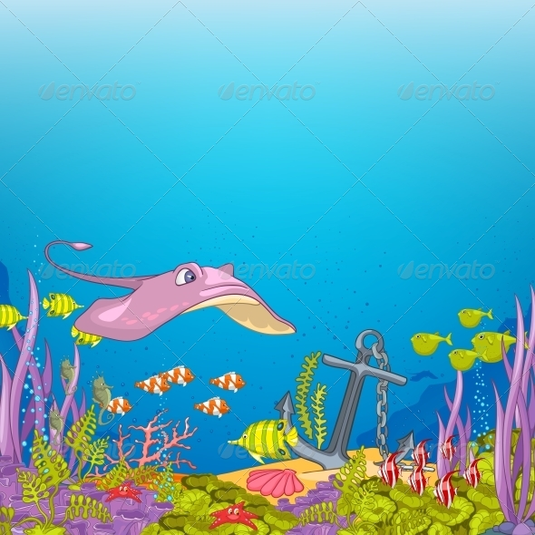 GraphicRiver Ocean Underwater Cartoon 4971328
