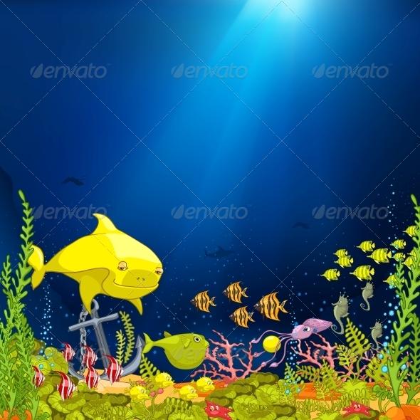GraphicRiver Ocean Underwater Cartoon 4971336