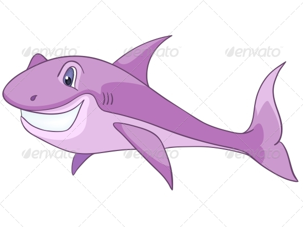 GraphicRiver Cartoon Character Shark 4971337