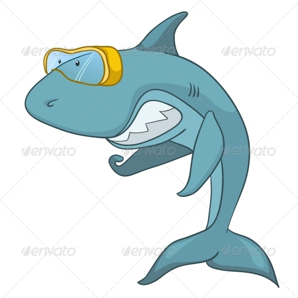 GraphicRiver Cartoon Character Shark 4971338