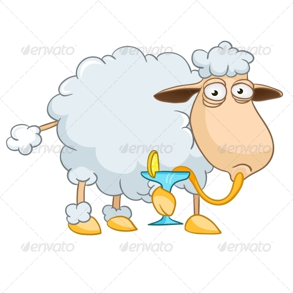 GraphicRiver Cartoon Character Sheep 4971348