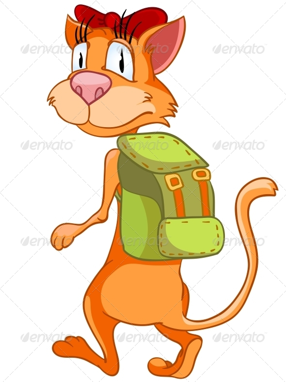 GraphicRiver Cartoon Character Cat 4971351