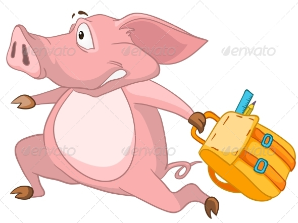 GraphicRiver Cartoon Character Pig 4971366