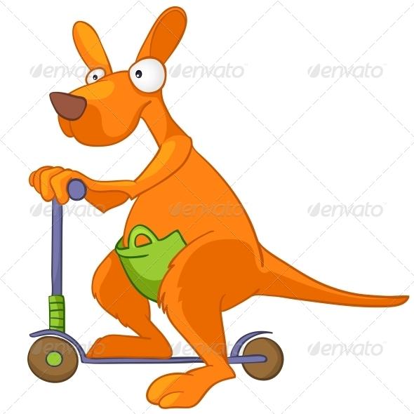 GraphicRiver Cartoon Character Kangaroo 4971380