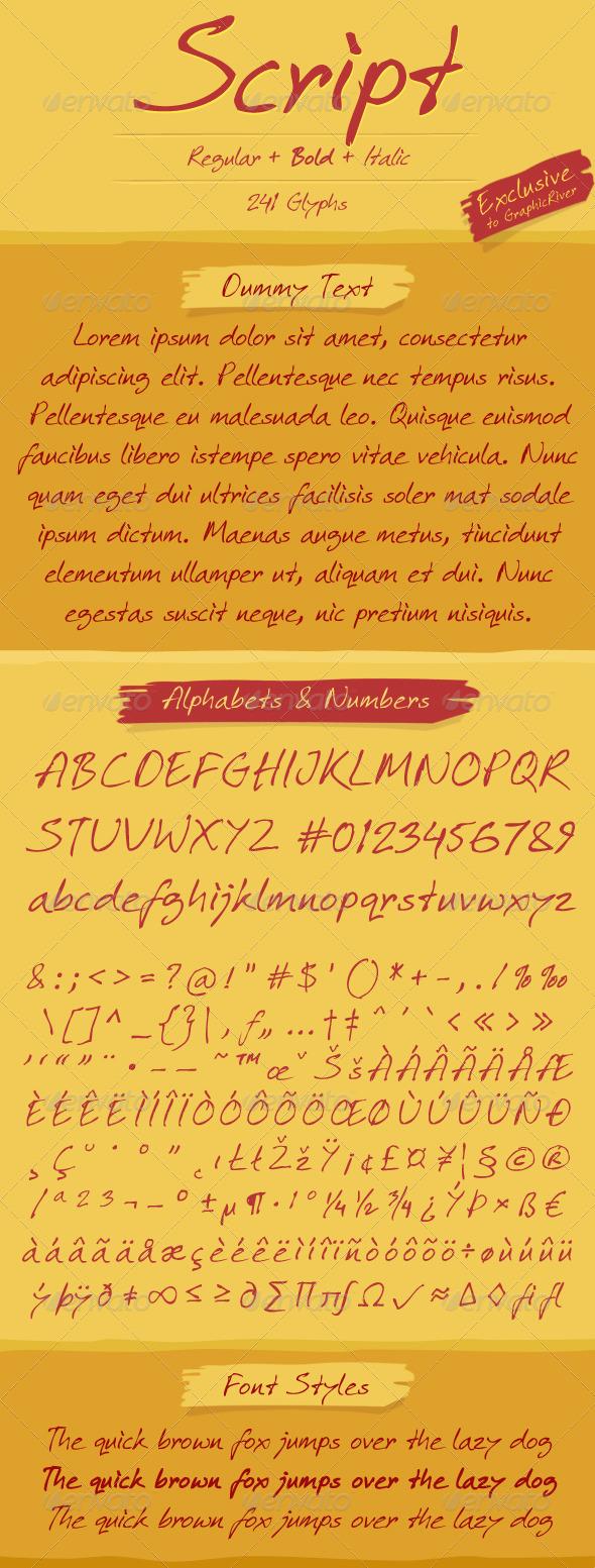 GraphicRiver Script Font 4971382
