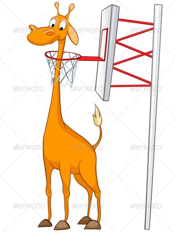 GraphicRiver Cartoon Character Giraffe 4971399