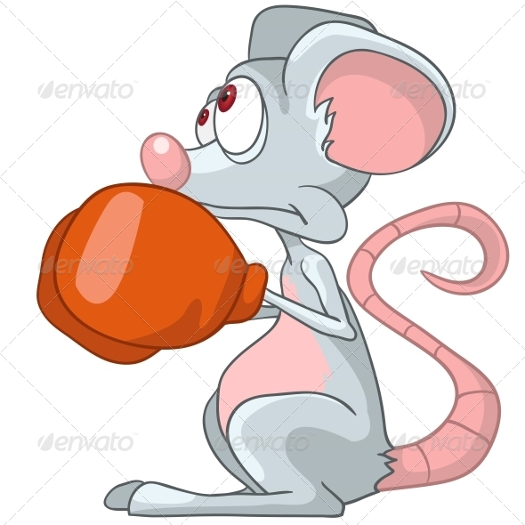 GraphicRiver Cartoon Character Mouse Boxer 4971413