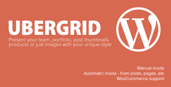 UberGrid is a powerful responsive grid / gallery builder for WordPress that will impress your visitors with stylish grids built in minutes. You can use UberGrid