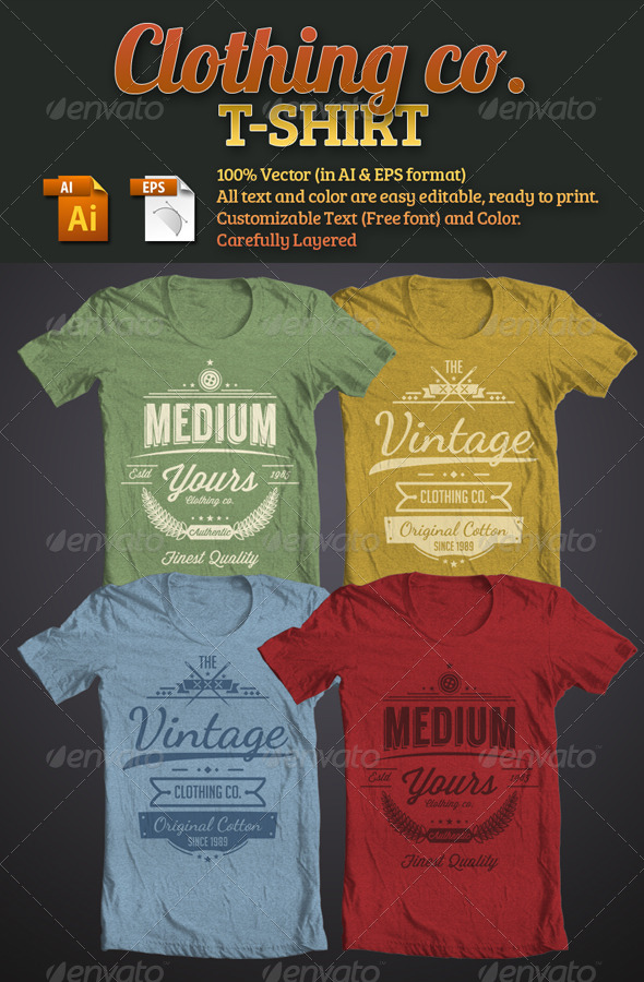 GraphicRiver Clothing Company T-Shirt 4972426