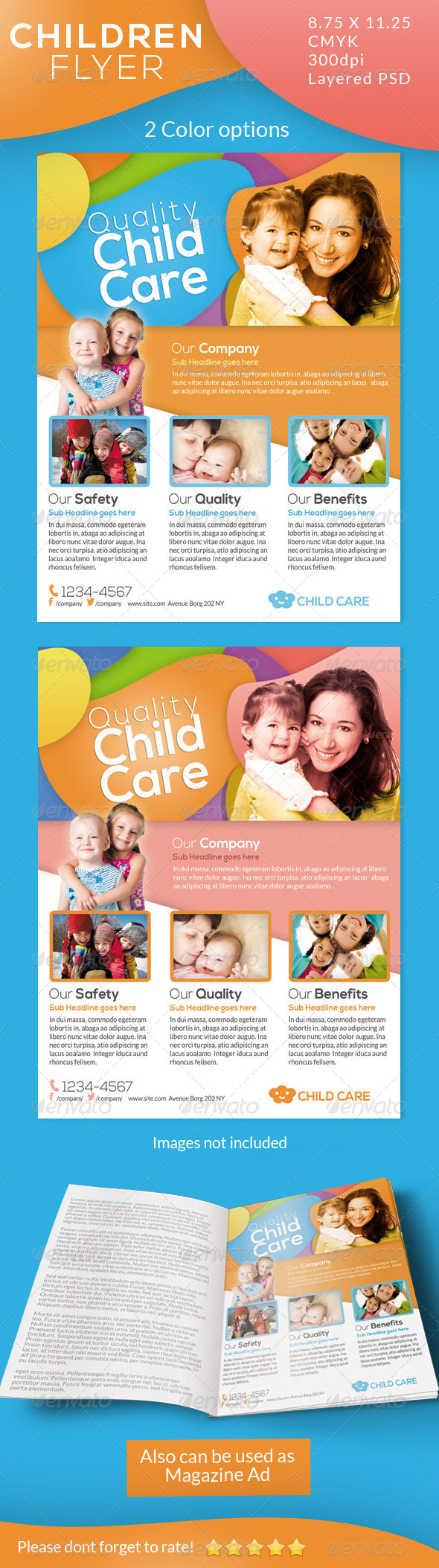GraphicRiver Children Care Flyer Magazine Ad 4972825