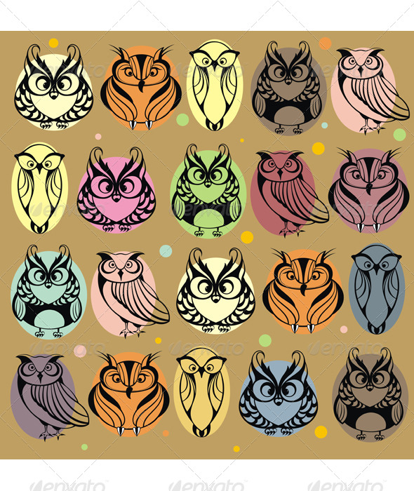 GraphicRiver Owls 4973229
