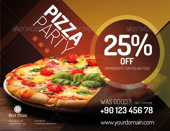 Flyer For Pizza Restaurant