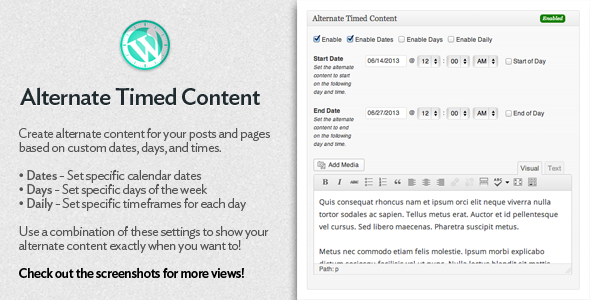 CodeCanyon Alternate Timed Content 4973272