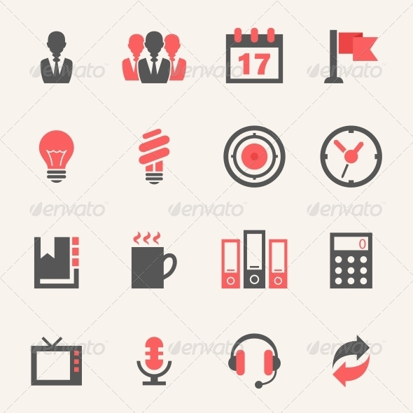 GraphicRiver Business Icon Set 4973347