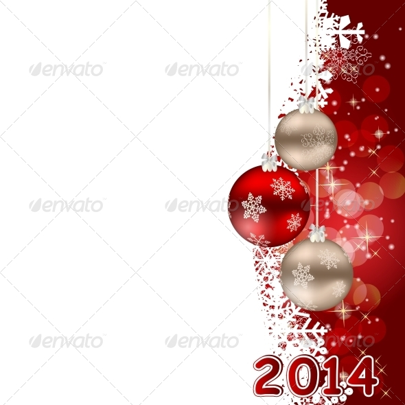 GraphicRiver 2014 Christmas and New Year Background 4973356