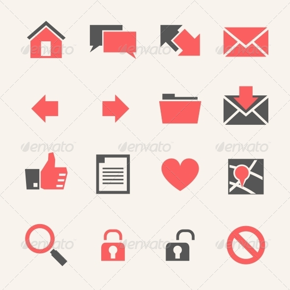 GraphicRiver Website Icon set 4973359
