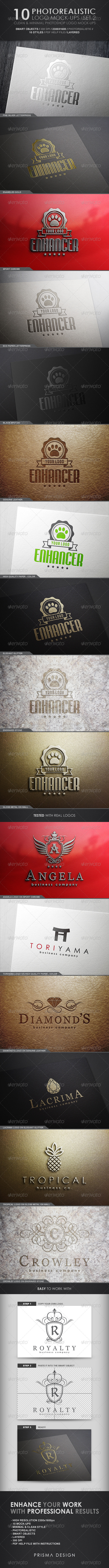 GraphicRiver 10 Photorealistic Logo Mock-Ups Set 2 4973414