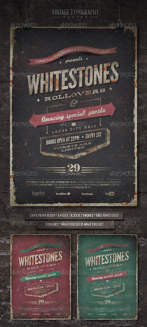 GraphicRiver Vintage Typography Poster VI 4973466