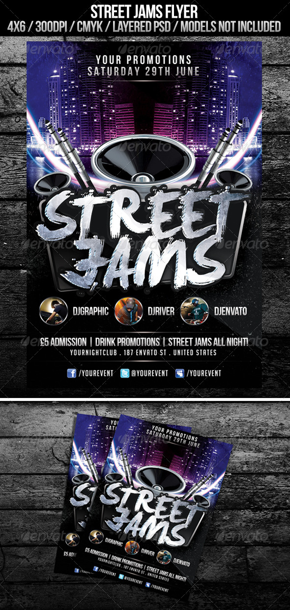 Street Jams Flyer - Clubs & Parties Events