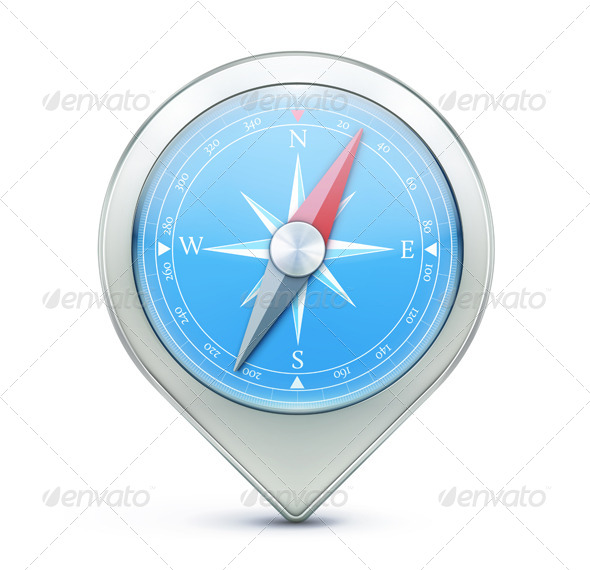 GraphicRiver Map Location Pointer Icon 4973603