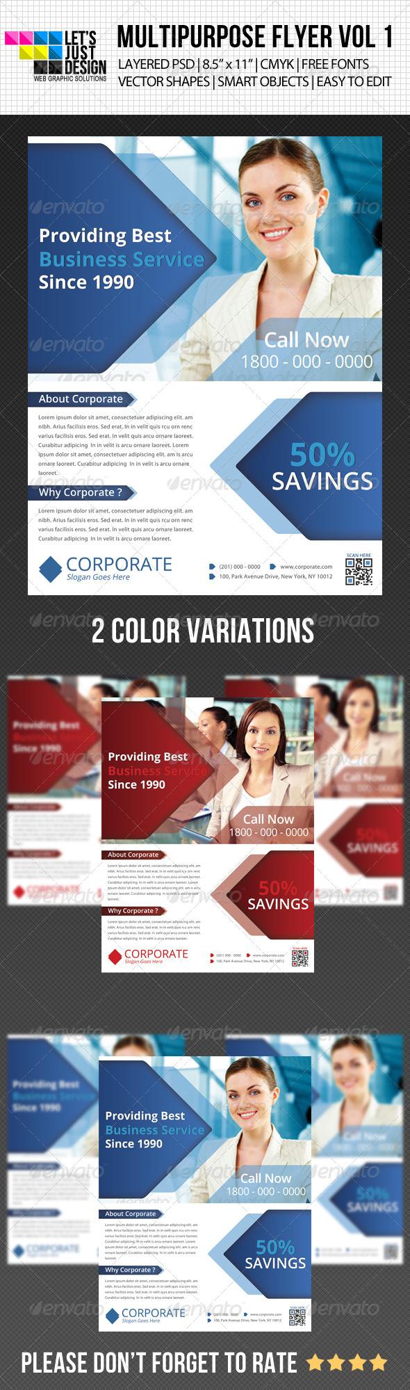 GraphicRiver Multipurpose Corporate Flyer Vol 5 4914241