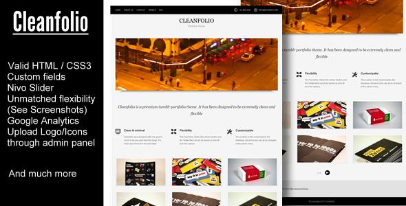 View live Demo for Cleanfolio - A Clean Tumblr Portfolio Theme