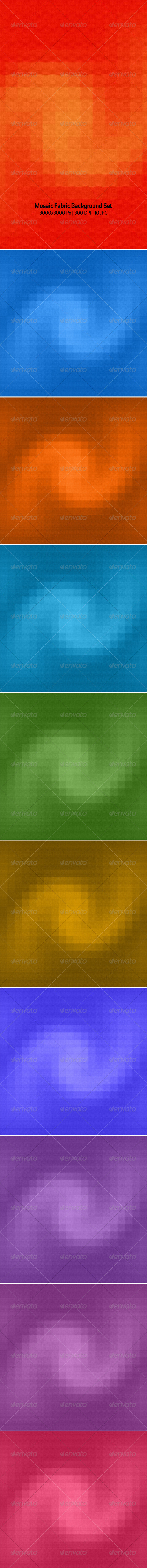 Mosaic Fabric Background Set - Backgrounds Graphics