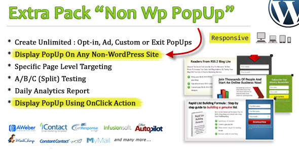 Non Wp PopUp - CodeCanyon Item for Sale