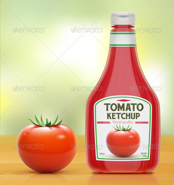 GraphicRiver Ketchup Bottle 4974349