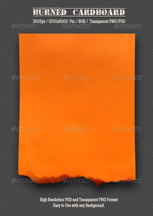 GraphicRiver Burnt Cardboard 2 4974521