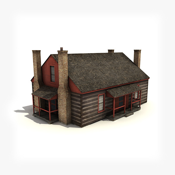 3DOcean Wooden house building low-poly 4974577