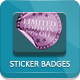 21 Modern Sticker Badges - Unlimited Colors - GraphicRiver Item for Sale