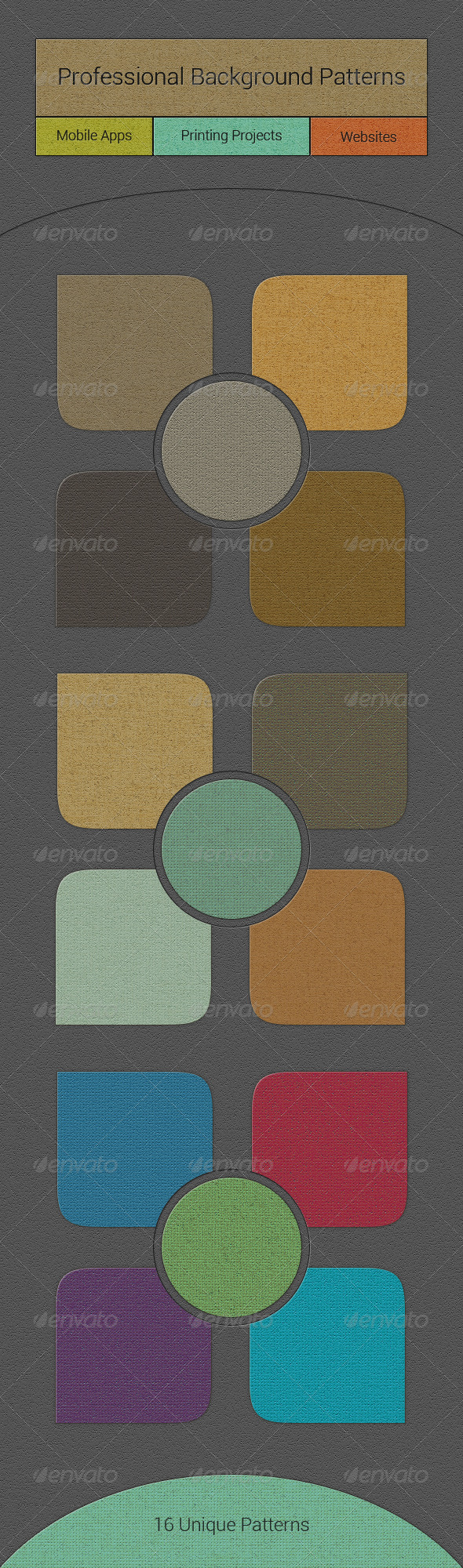 GraphicRiver 16 Professional Background Patterns 4975091