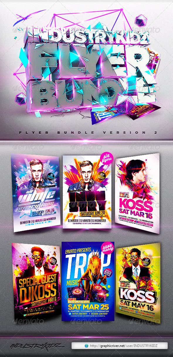 Electro Flyer Bundle - Clubs & Parties Events