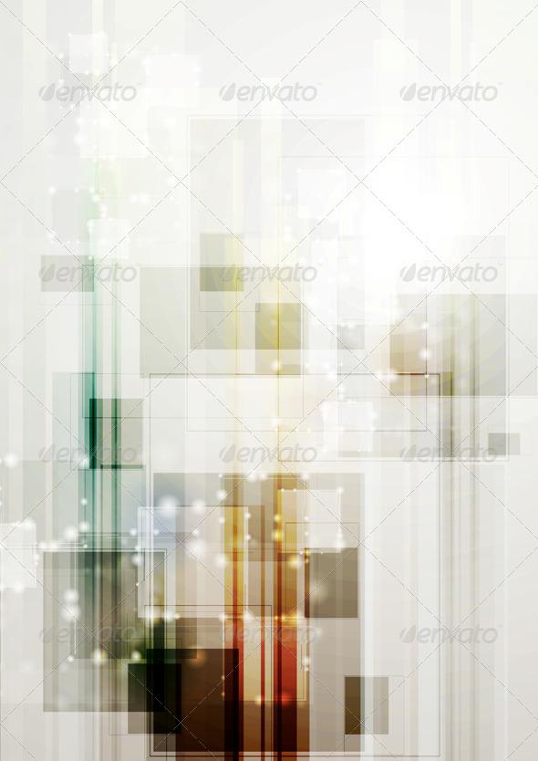 GraphicRiver Modern Hi-Tech Vector Template 4975382