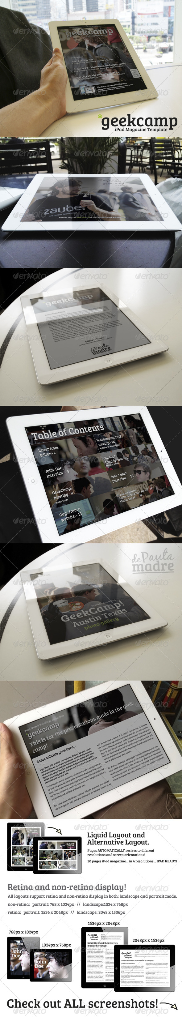 GraphicRiver Barcamp-Geekcamp iPad Magazine Template 4975528