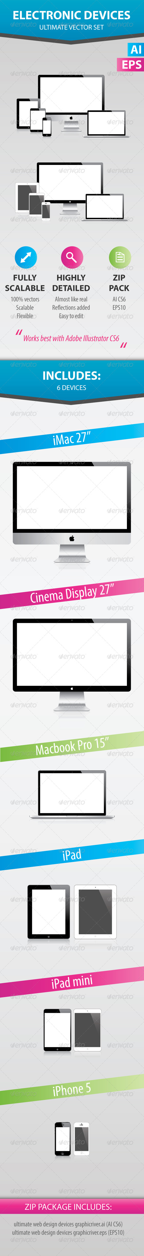 GraphicRiver Electronic evices ultimate vector set 4975930