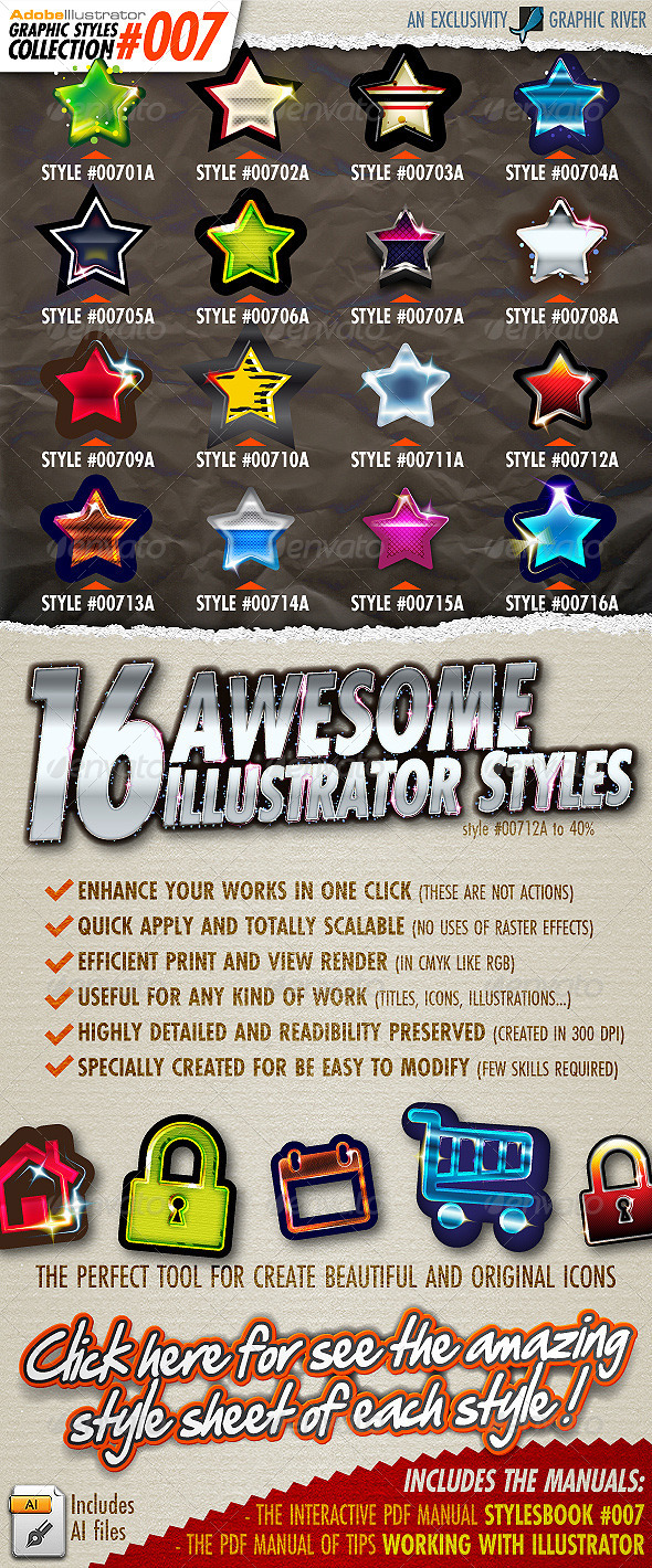 GraphicRiver Adobe Illustrator Styles Collection #007 4976060